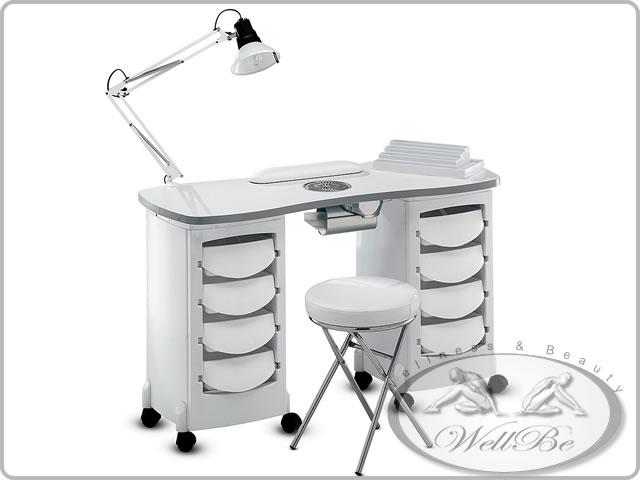 Tavolo per manicure con aspiratore vendita on line arredamenti per centri estetici - Tavolo ricostruzione unghie con aspiratore usato ...